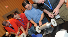 Active participation in one of the many hands-on workshops at the 2014 AMUG Education and Training Conference.