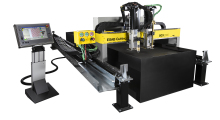 Booth C-2466: The compact SGX automated cutting machine from ESAB is a rugged, high-performance system that carries up to three tool stations, including up to two oxy-fuel torches and one plasma station that can be equipped with m3-IGC Precision Plasma System for high-quality plasma cutting.