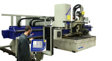 Booth B-3911: The MPC2000 cutting machine from Messer Cutting Systems features the Infinity Rotator for plasma bevel cutting, a heavy-duty drill with two inch drilling, an ALFA oxyfuel torch and Telesis® Pinstamp® for plate marking.