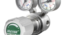 The Victor Specialty Gas Control line-up of specialty, high purity and laboratory gas regulators includes the Spec Master HP600 series regulator that is designed for primary gas control of non corrosive, high purity gases up to 6.0 purity grade.
