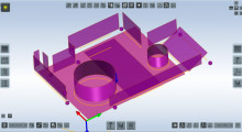 TouchDMIS reduces traditional CMM software to just eight Function Buttons which, when selected, open the appropriate Function Window. All open windows offer 'thru-view' sight of displayed graphics. Many windows offer a 'flip button' for window flipping to display further advanced functions and capabilities for expert users. The software graphics area bleeds to the edge of the touch screen with all software buttons floating atop the graphics.