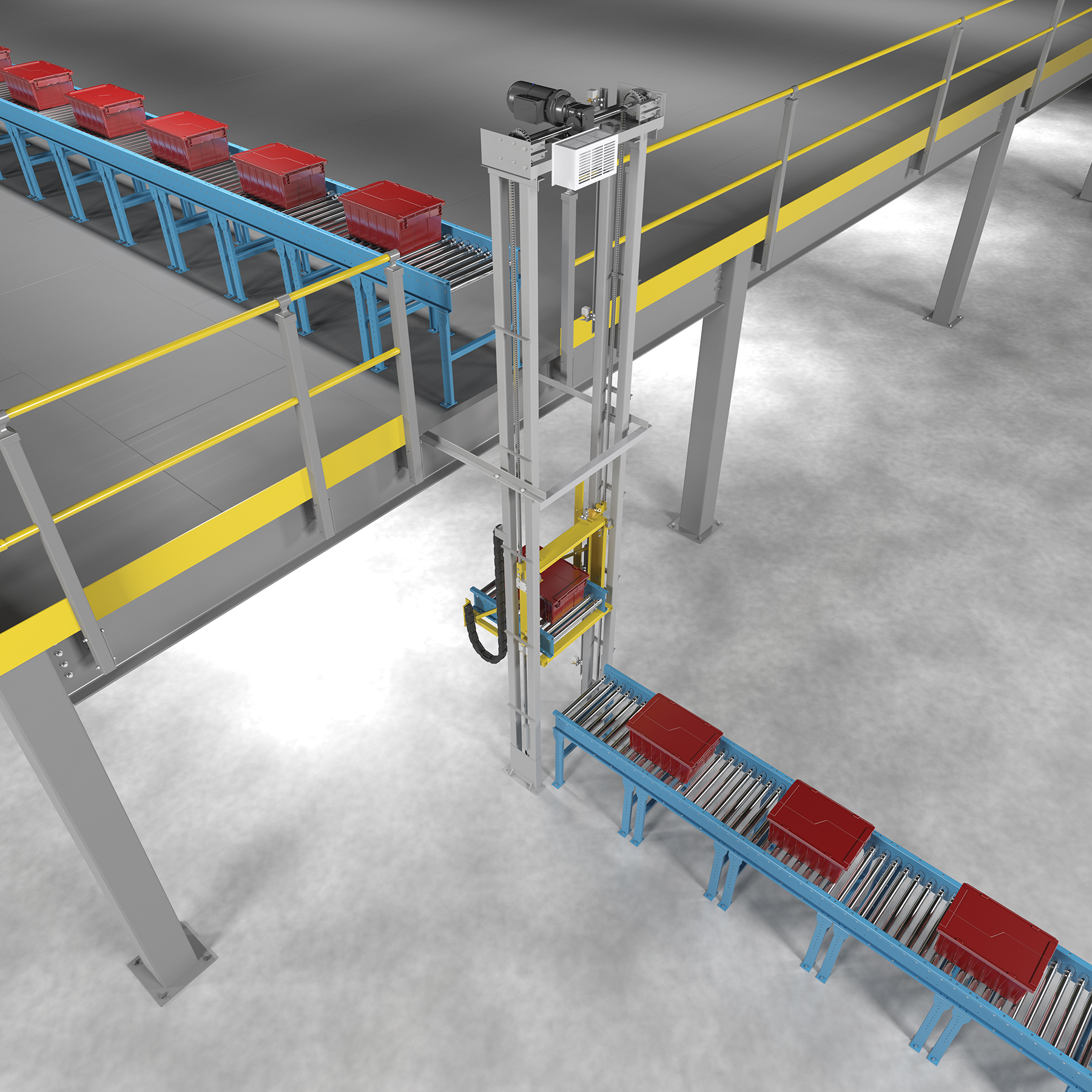 Vertical Lift Devices : Automated vrc for conveyor systems