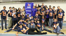 In the FIRST Robotics competition, the Vincent Massey Robotics Team students are tasked with designing and manufacturing a working robot to compete against teams from across the U.S. and Canada, all within a short timeframe and with a limited budget.