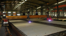 CNC plasma cutting using a Hypertherm HPR260XD system. How the torch and consumable parts are used to generate the high temperature plasma cutting arc represents an opportunity to improve shop floor efficiency.