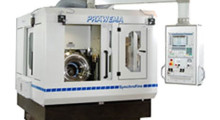 The Präwema SynchroFine 205 HS gear honing machine features a pick-up design to enable automation. The workpieces and dressing tools are loaded and unloaded by the workpiece spindle. The large X-axis travel enables placement of additional stations adjacent to the loading/unloading station inside the machine, such as a two-flank roll-checking device.