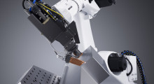 Laser welding and aluminum cable cover with a TruLaser robot. With laser welding, overall tolerance, accuracy and finished part quality can be improved by either forming all sides individually or bending two pieces such that the bends on one part create the sides of the box and the second part creates the ends.
