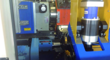 An OD and ID turning station with BEX15 machining unit using Weldon tool holder and 1.5 kW motor drive and high precision angular contact spindle bearings. (second view)