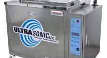 Booth C-541: Ideal for cleaning rubber and plastic parts, bearings, bolts, transmission components, engine parts prior to assembly and plastic injection molds used in automotive, medical, pharmaceutical, aerospace, engineering and other applications, the Ultra 2400FA full-featured ultrasonic cleaner from Ultrasonic has a 24 gal main tank capacity and horizontal transducers for superior cleaning action without solvents.