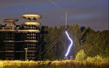 "The Russian version of the Tesla tower, called the ""High Voltage Marx and Tesla Generator Research Facility,"" is located about 40 km from Moscow. Currently, the generators in this unique research complex are able to meet the energy needs of the entire country for a period of approximately 100 microseconds."