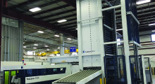 Booth S-2305: The new TRUMPF 3030 4 kW Fiber Laser at Ohio Laser uses the tallest material storage tower in North America to cut steel and stainless steel parts from sheet and plate up to one inch thick.