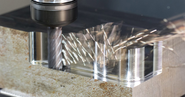 Ideal for high-speed milling and peel milling applications that involve high temperatures and abrasive workpiece materials such as titanium and pH stainless steels, S638 and S638R six-flute end mills from Niagara have an AlTiN coating and an eccentric OD relief that provides a stronger cutting edge to take larger radial depths of cut as compared with the seven- and nine-flute tools. (View one)