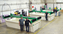 TredWear, Park Plus, JHE Production, and Daylen Solutions built their unique machines on the shop floor of WARDJet, becoming experts on operating and servicing their new waterjets.