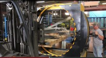 The orbital wrapper is a horizontally-positioned stretch wrap machine that moves around and under a load as the Yellow Jacket is manually advanced across the length of the load -- significantly minimizing the time it takes to wrap a load by hand. Tightly wrapped to the pallet, the load's ability to shift, fall or slide in transit is nearly impossible. Typically this type of operation takes two workers roughly ten minutes to wrap a similar load by hand. Yellow Jacket can wrap a similar load with one worker in one minute.