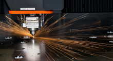 The Optiplex Fiber II 6 kW fiber laser cutting system from Mazak Optonics offers superior edge quality, more stable cut performance and greater throughput for processing stainless steel, copper, brass, bronze, aluminum, hastelloy, inconel, titanium, thin gage mild steel, and other exotic metals. There is no need for additional surface cleaning when painting mild steel cut with nitrogen.
