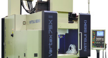 """Vertex 75X II vertical machining centers from Mitsui Seiki are constructed with a unique """"box-in-box"""" design and hand-scraped guideway mounting surfaces for superior rigidity, stiffness and agility that is ideal for the high speed machining of tight-tolerance aerospace parts. They offer unparalleled machine geometry, with 0.000040 in positioning accuracy in X, Y, and Z axes; ±6 arc seconds in A-axis; and ±4 arc seconds in C-axis."""