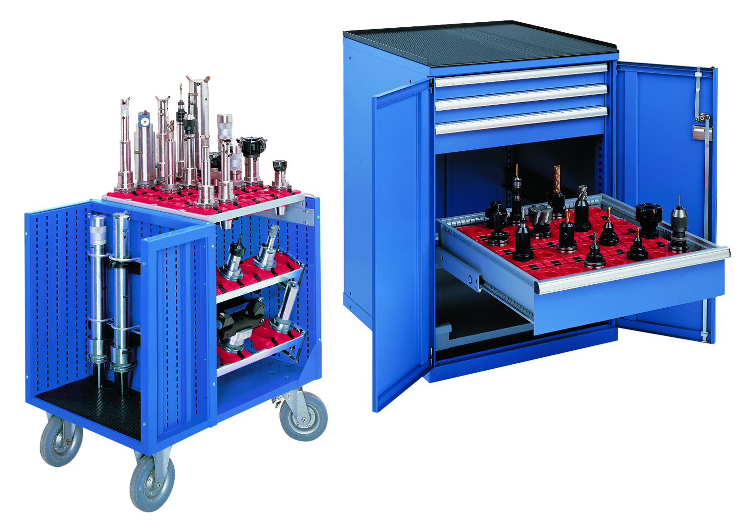 Modular And Lockable CNC Tool Storage Cabinets And Transporters From Lista  Accommodate A Variety Of Standard Sized CNC Tool Holders To Form The Core  Of The ...