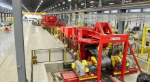 PVS Metals has completed installation of one of the world's largest steel leveling machines, equipped with stretcher/leveler technology to ensure the flattest material in the industry. (first view)