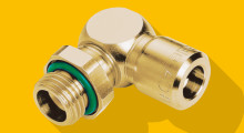 "Liquidline fittings from Eisele Connectors are used in closed cooling systems in harsh welding environments. Manufactured from a solid dezincification-resistant brass alloy for cooling water of pH 5, these fittings are more resistant to corrosion than traditional fittings and can stand up to high temperatures, high flow and aggressive aqueous media. They also feature an innovative protective ""release sleeve"" to avoid weld spatter build-up."