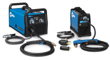 "The grand prize in the ""New Year – New Build"" Sweepstakes includes a Millermatic 211 MIG welder (left) and Spectrum 375 X-TREME plasma cutter (right) with an XT30 torch and storage case."