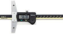 With a hardened and micro-lapped base and measuring face, the ABSOLUTE Digimatic Depth Gage from Mitutoyo features SPC data output and can keep track of the origin point once set for the entire three-year life of the battery.