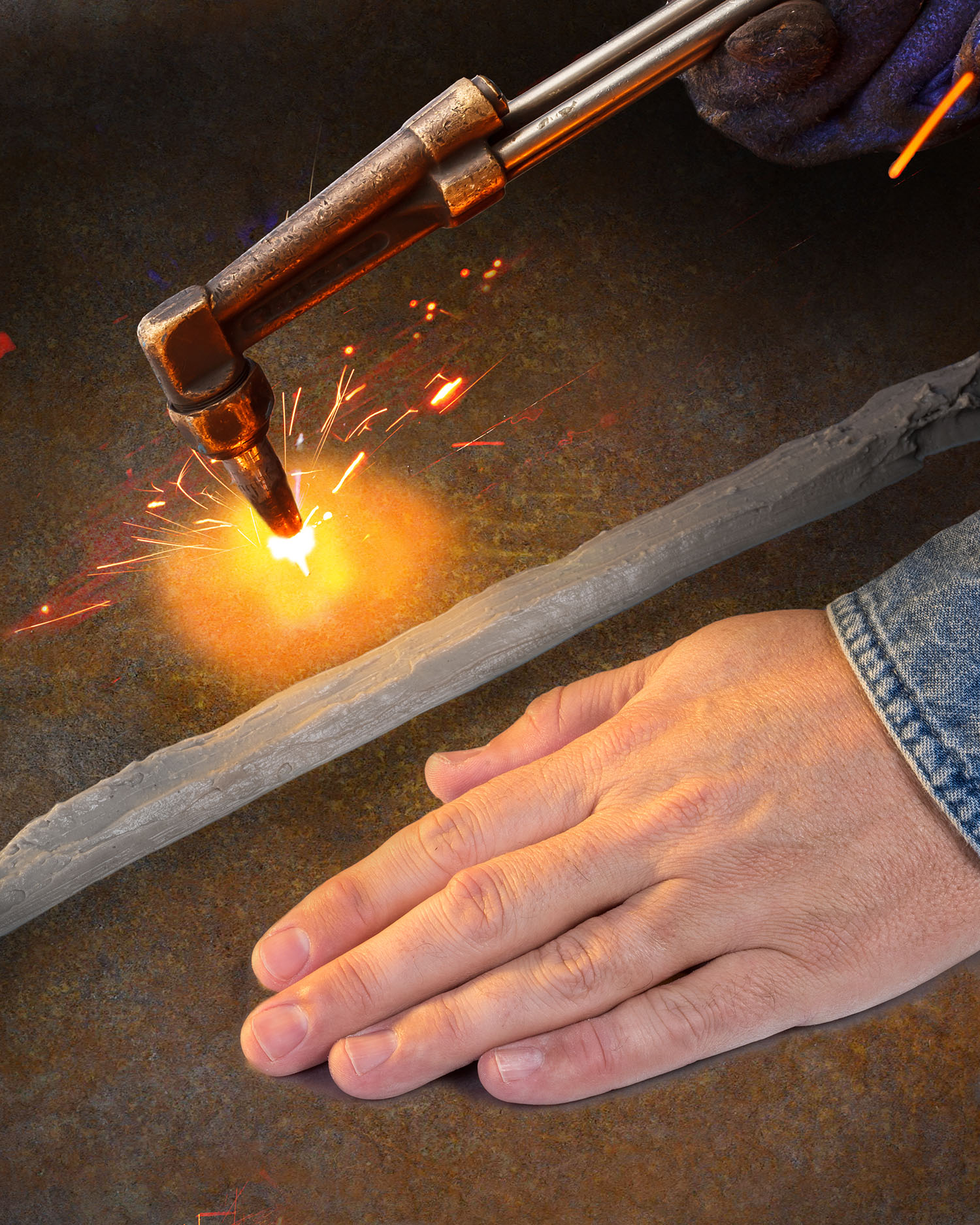 Heat Absorbing Flooring : Heat absorbing compound blocks transfer through metal