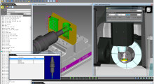 "Version 7.4 of VERICUT CNC simulation software from CGTech has a redesigned user interface, status window and tool manager, and includes the free Reviewer application that is enhanced with a new MDI option. Selecting a tool from the new Reviewer Tool Menu automatically sets the ""Start"" and ""End"" points of the simulation."
