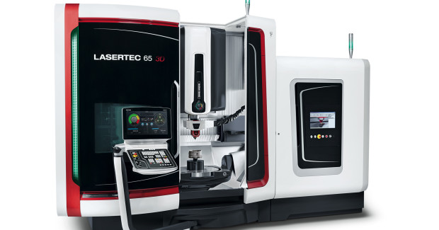 The LASERTEC 65 3D involved in the research uses laser deposition welding to build up parts. It can lay down two different powdered materials during the 5-axis process, which is more than ten times faster than powder bed technology, and build parts up to 500 mm diameter with undercuts and no supporting structure. It can also create parts with internal channels with its continuously monitored and measured laser build up process.