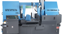 With a round capacity of 31.4 in (800 mm), the Continental DC-560SA Band Saw from DoALL is one of the Continental Series of high production, semi-automatic horizontal band saws that are perfect for shops that need a high production band saw, but have operations that do not require indexing or automatic cutting cycles.