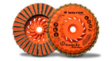 Enduro-Flex 2-in-1 TURBO finishing flap discs from Walter Surface Technologies are ideal for aluminum, stainless steel and steel fabricators needing a one-step surface conditioning solution for weld removal and paint-to-prep finishing.