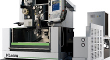 The VL600Q from Sodick is a cost-friendly Wire EDM machine that features a larger XY-travel than other entry models at 23.62 in x 15.75 in (600 mm x 400 mm),  all-axis rigid linear motors, absolute glass scale feedback, and ceramic components.