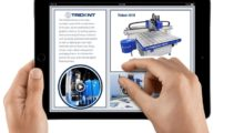 """AXYZ's first iBook, titled, """"AXYZ CNC Router Systems.""""  (photo courtesy of AXYZ International)"""