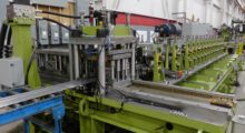 "Samco's ""hands-free"" machine, the entire process is automated from the moment coil leaves the uncoiler until finished product exits the cut-off."