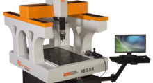 Ideal for measuring complex parts with tight tolerances, the Revolution Series HB Shop Floor CMM from AIMS is the only mobile 5-axis CMM on the market. Built around Renishaw 5-axis technology, it can cut inspection time from days to minutes for many applications, such as aerospace parts, so that shops can gain speed without sacrificing accuracy.