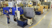 The Harig fineblanking and metal stamping  equipment now installed at Sko-Die's facility includes four Feintool fineblanking presses, two 160 ton and two 250 ton presses. (Photo courtesy of Sko-Die Fineblanking)