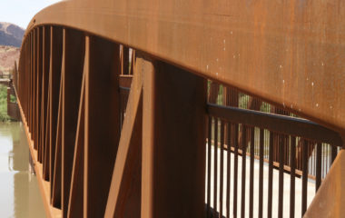 Weathering steels have small additions copper, nickel and chromium that help improve the corrosion resistance of the steel to atmospheric sources.
