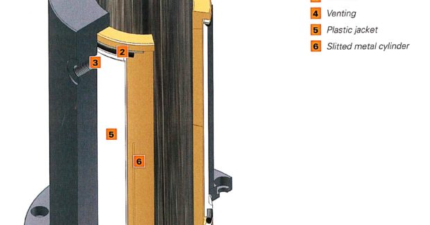Booth W-2453: Kostyrka German-engineered clamping sleeves from Euro-Tech use flexible metal plastic composite bushes in housings to surround the part and clamp it by applying oil pressure to the sleeve jacket and converting that pressure into a radially acting clamping force that does not damage the surfaces of the clamped parts. (view one)