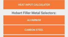 To determine filler metal volume, users simply select the type of weld joint, enter its dimensions, and provide total weld length, material and transfer modes. The app recommends the type and amount of filler metal needed. It also calculates the heat input for a given application based on voltage, amperage and travel speed variables.
