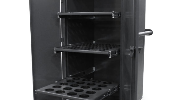 Booth W-2171: The FM-16828 Rolling Tool and Die Cabinet from Strong Hold Products uses locking swivel casters and a push handle for ideal mobility in 5S and lean manufacturing operations. Its 12 ga construction and one-piece body design make it one of the strongest tooling cabinets available. Its three slide-out tooling trays can hold 400 lb each and the door utilizes a 3-point locking mechanism that is securable with a padlock.