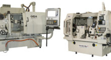 Booth N-7467: This remanufactured ID grinder from GCH Machinery (left) is a state-of-the-art grinding system that features hydrostatic Y-axis and Z-axis tables, keeps pace with any model and maintains .001mm accuracy. The new TGS-CL-6020 CNC centerless grinder from Total Grinding Solutions (right) offers sub-micron-level precision, largely due to its high rigidity, for production of components requiring tight tolerances.