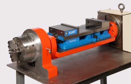 Booth W-2268: The new Stallion Hybrid trunnion from TrunnionTable.com reduces setups and increases productivity for job shops by eliminating the need to remove the trunnion table. Its hybrid design allows quick installation of three-jaw and four-jaw chucks, collet chucks and faceplates without removing the table for a low-cost productivity booster.