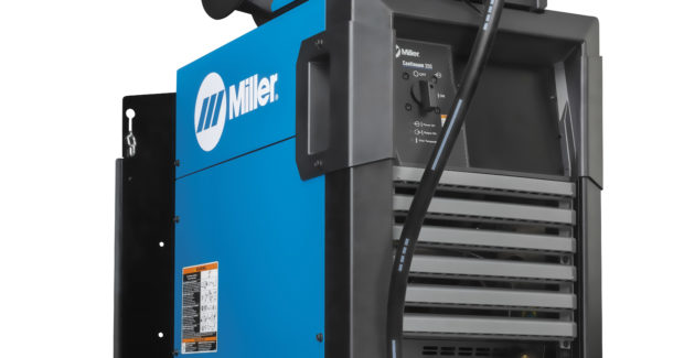 The Continuum 350 features two new welding processes. Versa-Pulse is a fast, low-heat and low-spatter process that delivers faster travel speeds for semi-automatic and automated welding applications, also resulting in increased productivity. This process is ideal for welding on thin materials (up to 1/4 in), such as sheet metal and tube applications, and offers a greater wire feed speed range than short circuit or Regulated Metal Deposition processes. A High-Deposition MIG process offers higher deposition rates and lower heat input than standard spray transfer, resulting in faster welding, increased productivity and better quality. The process works well for welding thicker materials and on larger welds (6 mm to 8 mm).