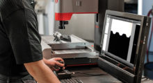 Booth E-5532: The compact, powerful AVR300 CNC general-purpose bench top video-based vision system from Starrett are ideal for quality assurance, inspection labs, manufacturing, assembly and research facilities. (first view)