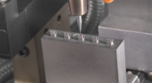 The F-Series vertical machining center from Makino provides stiffness and rigidity for chatter-free cutting, agility for high-speed /hard-milling and accuracies for tight tolerance blends and matches typical of complex, 3D contoured geometry associated with medical production.