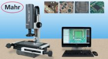 The MarVision MM 320 video measuring microscope with image processing capability from Mahr Federal is well suited for measuring and/or dimensioning geometric elements of bone screws, hip joint implants, knee endoprostheses, and other medical parts.