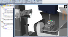 Booth E-3346: Version 8 of VERICUT CNC machine simulation, verification and optimization software from CGTech simulates all types of CNC machining, including drilling and trimming of composite parts, water jet, riveting, robots, mill/turn and parallel kinematics. The software operates independently, but can also be integrated with leading CAM systems.