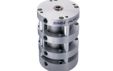 Figure 1. A compact style four-position cylinder. Multiple position cylinders such as these are an excellent choice for applications where the discrete stop positions are predetermined and unchanging. Their design offers the highest level of repeatability at a relative low cost.