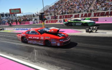 Erica Enders-Stevens' Elite Motorsports Camaro takes on Deric Kramer at Las Vegas on her way to winning her second NHRA Pro Stock Championship in 2015. Her Pro Stock engine used a 500-cid GM DRCE 2 block of CGI with a high-end honing finish for engine seal-up that translates into higher vacuum, greater fuel pull and ultimate track performance.
