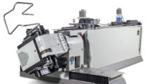 Ideal for furniture, pipe and automotive applications as well as for job shops, the E-TURN all-electric tube bender from BLM Group provides automatic right and left hand precision bending of a variety of tube configurations, including round, square, rectangular, flat-sided, oval and elliptica.
