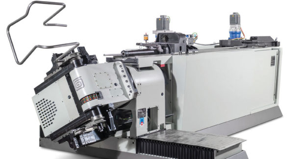 The E-TURN all-electric tube bender from BLM Group provides automatic right and left hand precision bending of a variety of tube configurations, including round, square, rectangular, flat-sided, oval and elliptica.
