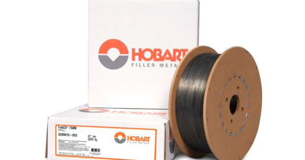 Ideal for welding API 5L Grade X100 pipe or as an overmatch on API 5L Grade X80 pipe, FabCO 750M gas-shielded flux-cored wire from Hobart provides low diffusible hydrogen weld deposits (3.5 ml per 100 g of weldment) on high-strength applications and minimizes the risk of underbead cracking.